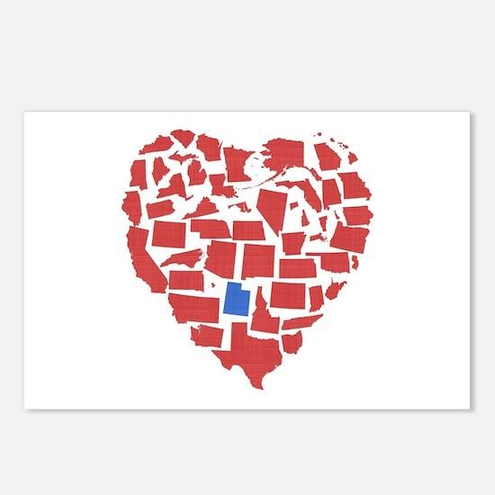 Utah Heart Postcards (Package of 8)