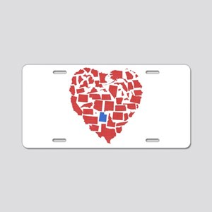 Utah Heart Aluminum License Plate