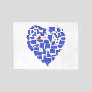 Virginia Heart 5'x7'Area Rug