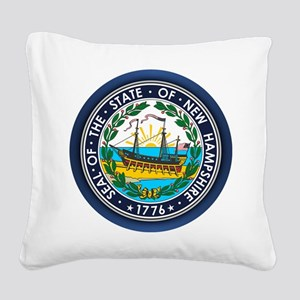 New Hampshire Seal Square Canvas Pillow