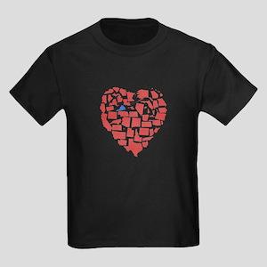 Virginia Heart Kids Dark T-Shirt
