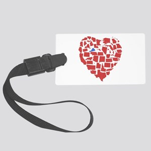 Virginia Heart Large Luggage Tag