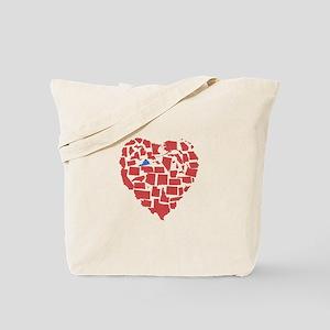 Virginia Heart Tote Bag