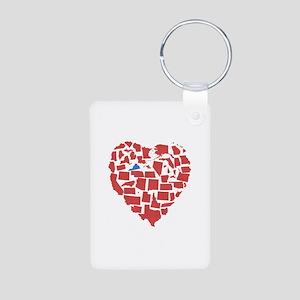 Virginia Heart Aluminum Photo Keychain