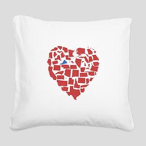 Virginia Heart Square Canvas Pillow