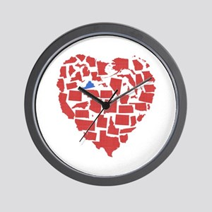 Virginia Heart Wall Clock