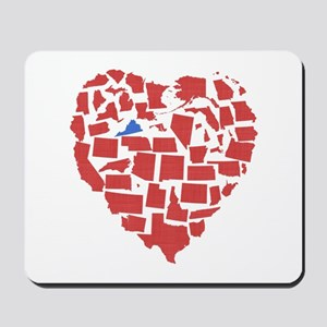 Virginia Heart Mousepad