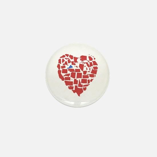 Virginia Heart Mini Button