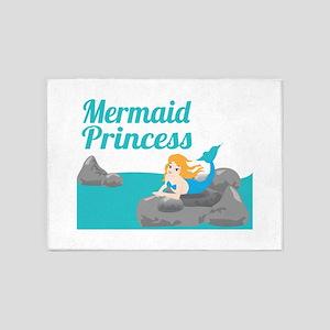 Mermaid Princess 5'x7'Area Rug