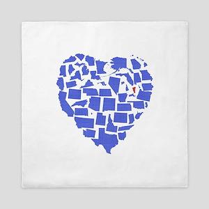 Vermont Heart Queen Duvet