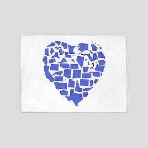 Vermont Heart 5'x7'Area Rug