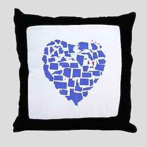 Vermont Heart Throw Pillow
