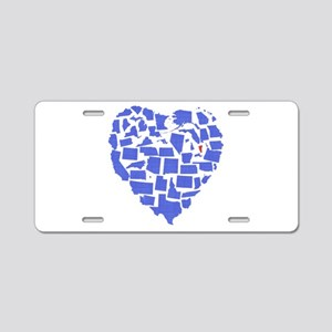 Vermont Heart Aluminum License Plate