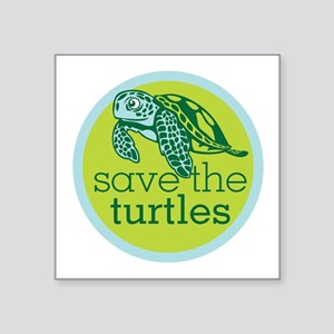 GREEN TURTLE HATCHLING LOGO Sticker