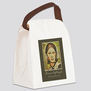 The Lady With The Lamp Canvas Lunch Bag