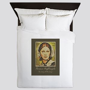 The Lady With The Lamp Queen Duvet
