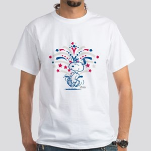 Snoopy Fireworks White T-Shirt
