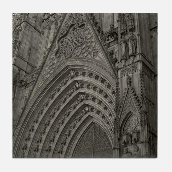 La Catedral Barcelona Tile Coaster