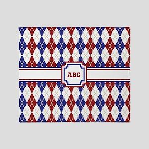 Americana Argyle Throw Blanket