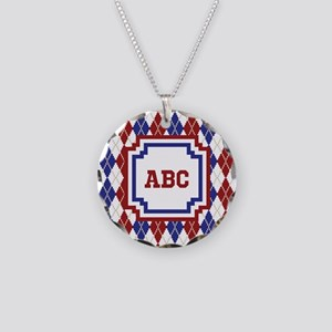 Americana Argyle Necklace Circle Charm