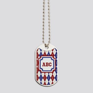 Americana Argyle Dog Tags