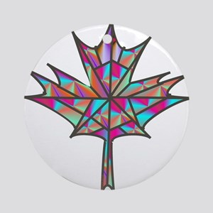 Maple Leaf Mosaic Ornament (Round)