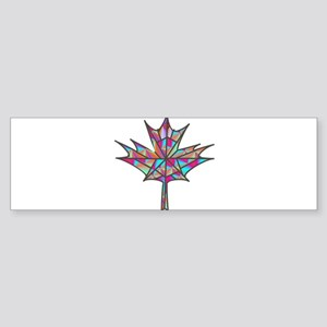 Maple Leaf Mosaic Bumper Sticker
