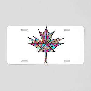 Maple Leaf Mosaic Aluminum License Plate