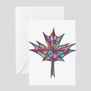 Maple Leaf Mosaic Greeting Cards