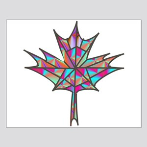 Maple Leaf Mosaic Small Poster