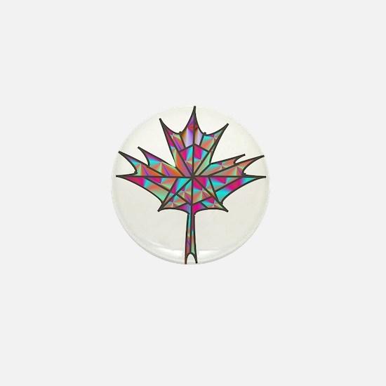 Maple Leaf Mosaic Mini Button