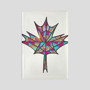 Maple Leaf Mosaic Magnets