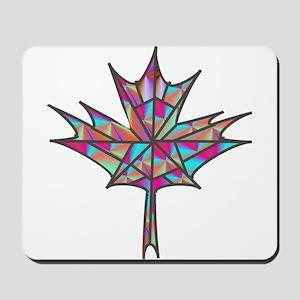 Maple Leaf Mosaic Mousepad