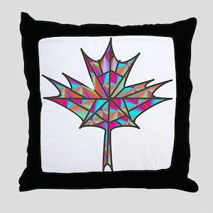 Maple Leaf Mosaic Throw Pillow