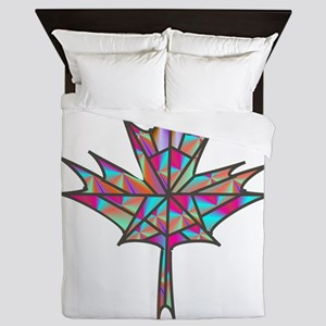 Maple Leaf Mosaic Queen Duvet