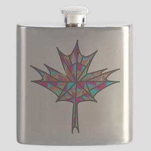 Maple Leaf Mosaic Flask