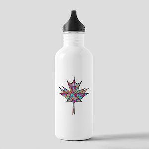 Maple Leaf Mosaic Water Bottle