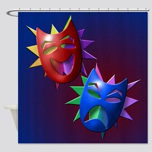 Comedy and Drama Masks Shower Curtain