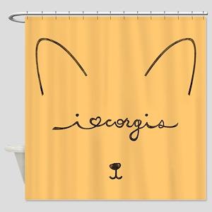 I Love Corgis - Shower Curtain