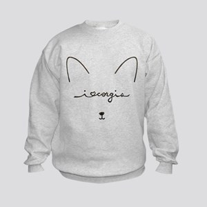I Love Corgis - Kids Sweatshirt