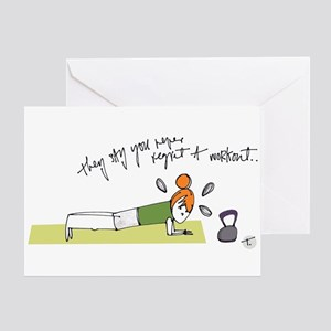 Funny fitness greeting cards cafepress commit to fit greeting cards m4hsunfo
