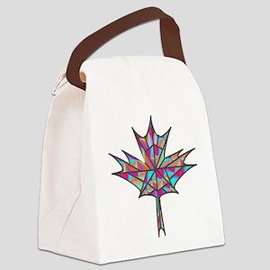 Maple Leaf Mosaic Canvas Lunch Bag