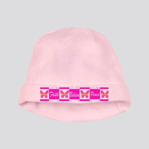 PINK BUTTERFLY baby hat