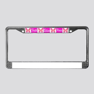 PINK BUTTERFLY License Plate Frame