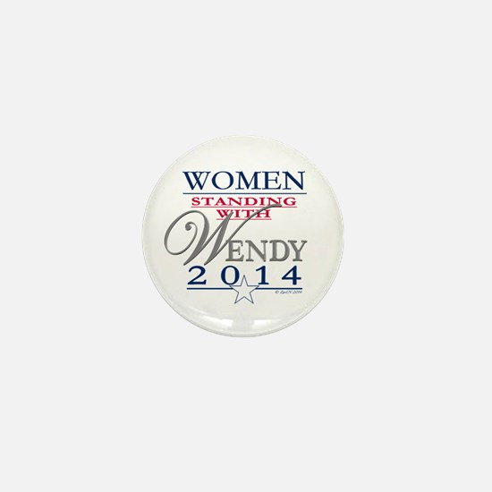 Women standing with Wendy Mini Button