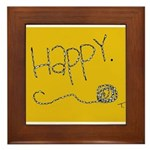 Simply Happy Framed Tile
