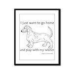 Wiener Play Framed Panel Print