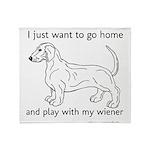 Wiener Play Throw Blanket