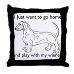 Wiener Play Throw Pillow