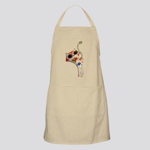 White Mexican Cat Apron